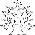 Arbre d'étoile dessin à colorier