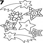 Etoile filante et Noel dessin à colorier