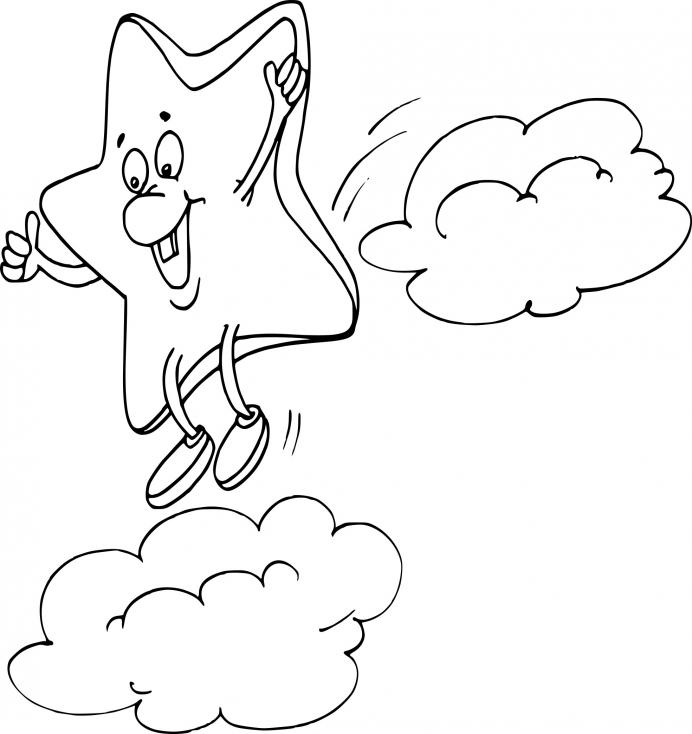 Etoile sur un nuage