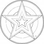 Mandala étoile de Noel
