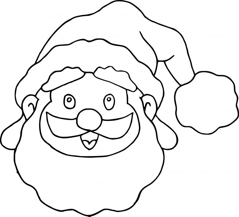 Coloriage Masque père Noël à imprimer