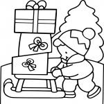 Noël 3 ans dessin à colorier