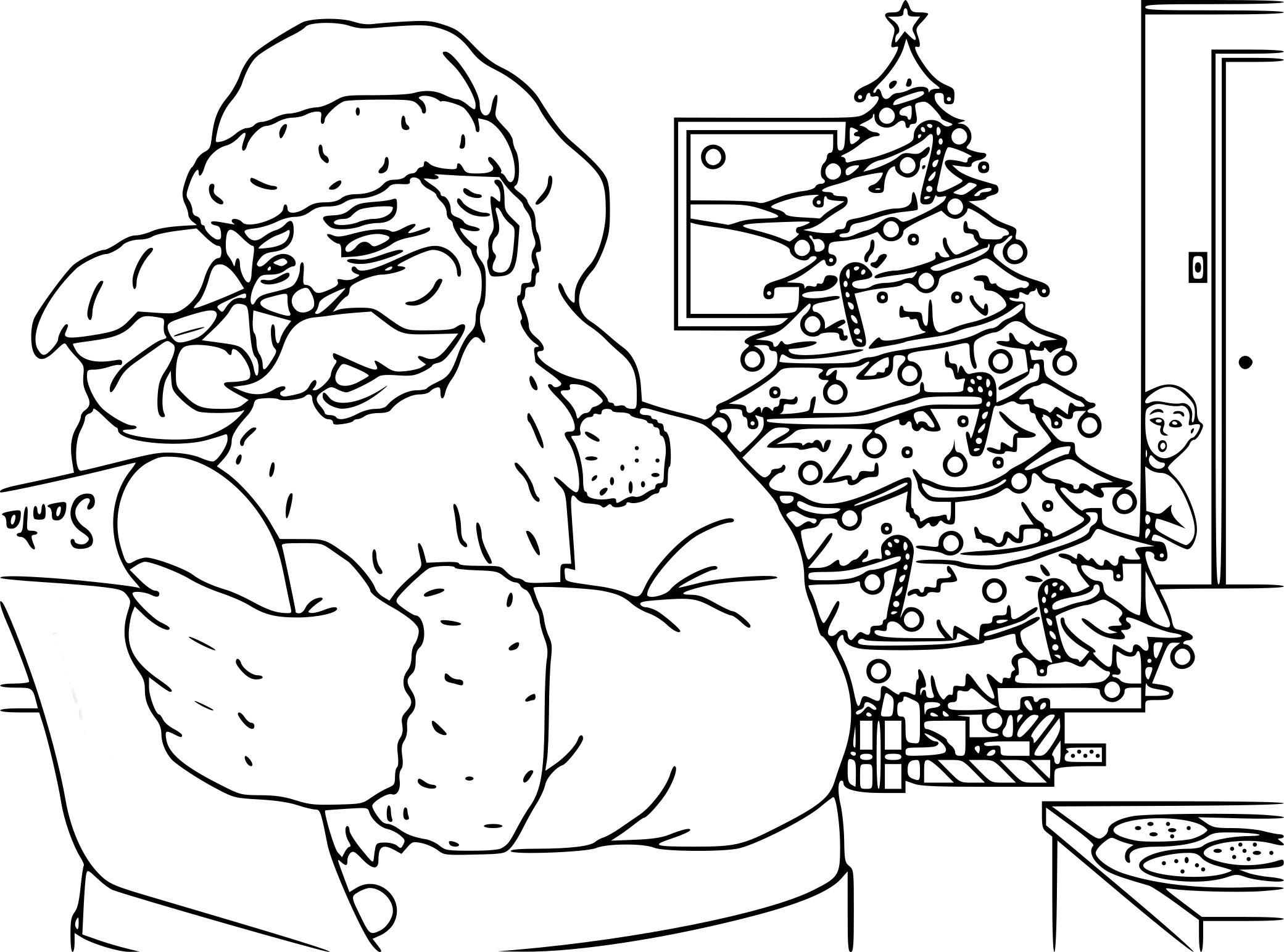 Coloriage Noël difficile à imprimer sur COLORIAGES .info
