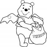 Winnie halloween dessin à colorier