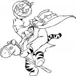 Tigrou Halloween dessin dessin à colorier