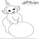 Coloriage Teletubbies Laa-Laa