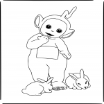 Coloriage Teletubbies lala