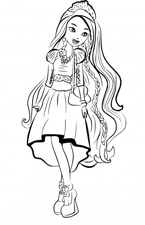 Coloriage Ever After High Holly O'Hair à imprimer
