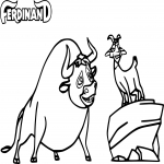 Coloriage Ferdinand film d'animation