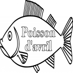 Coloriage Poisson d'avril dessin
