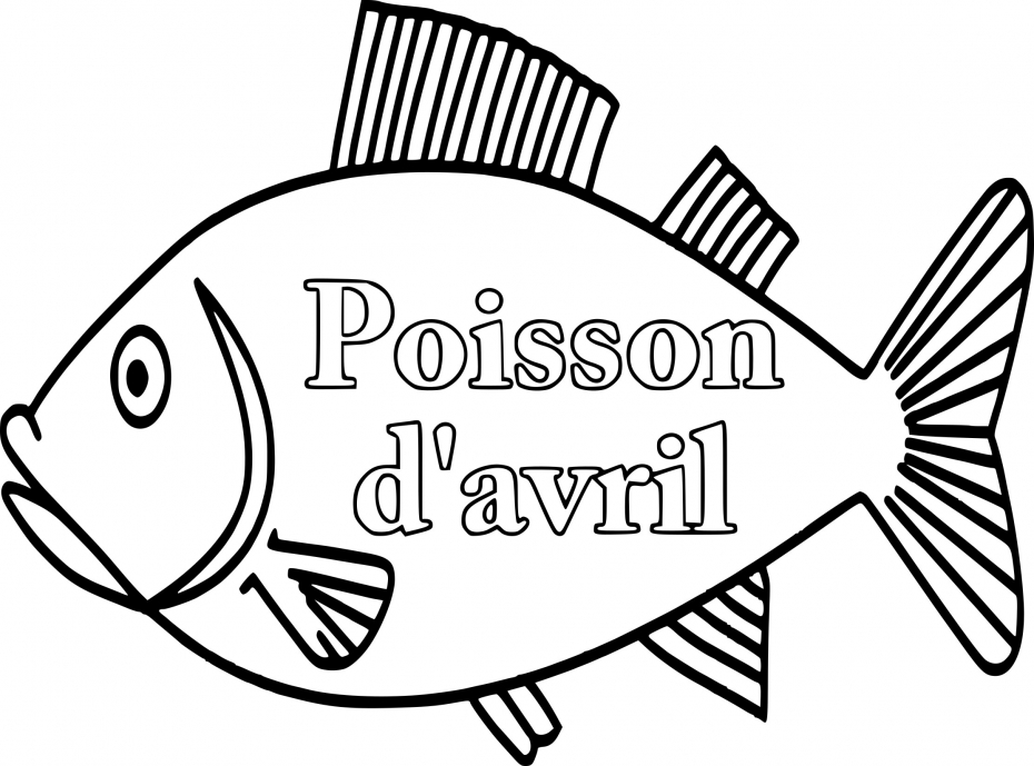 Poisson d'avril dessin