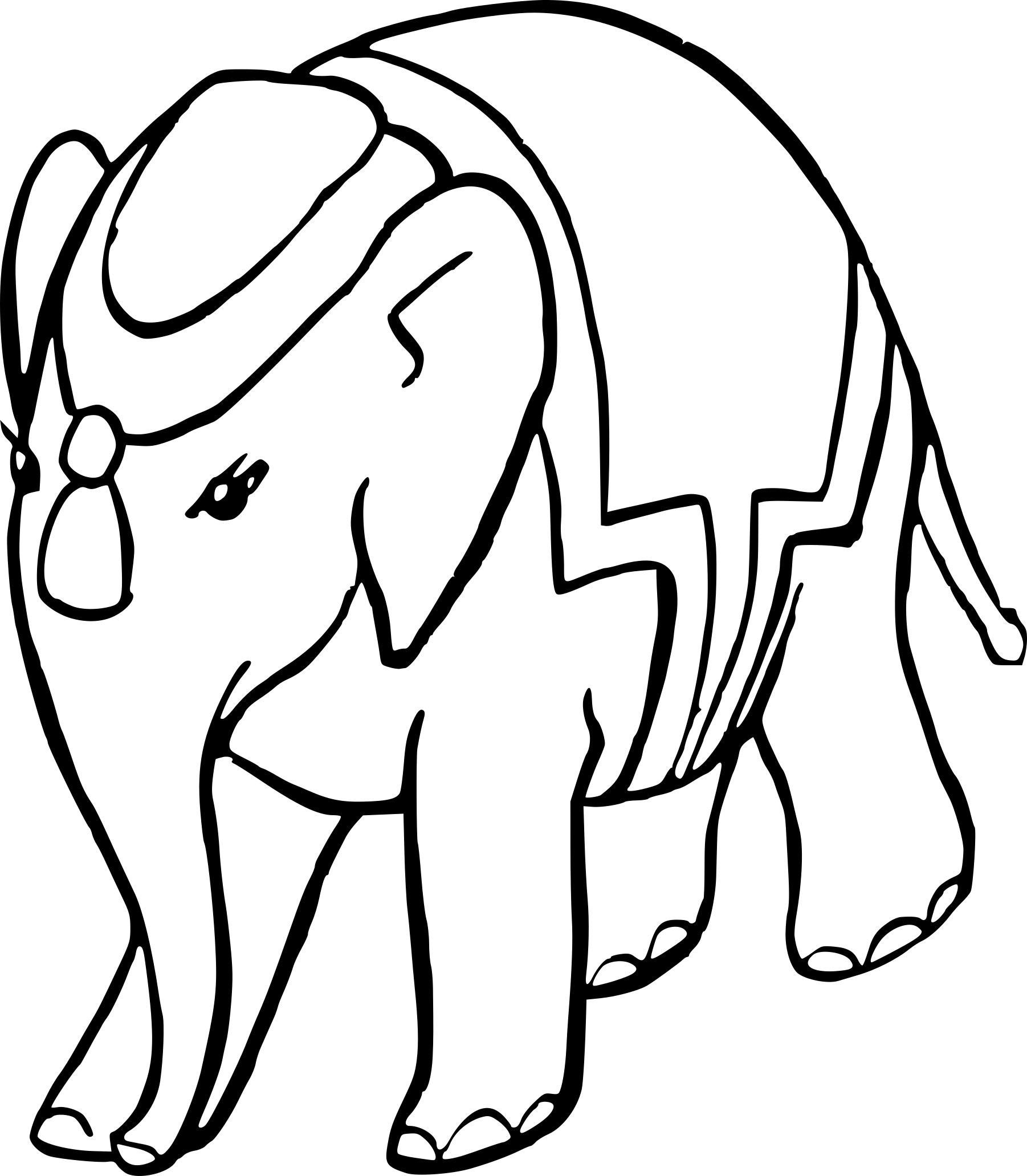 coloriage l phant inde dessin imprimer sur coloriages info. Black Bedroom Furniture Sets. Home Design Ideas
