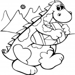 Coloriage Dinosaure Paques