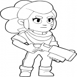 Coloriage Shelly Brawl Stars