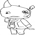 Coloriage Animal Crossing Rhinocéros