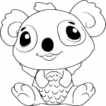 Coloriage Hatchimals Koala