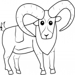 Coloriage Mouflon facile