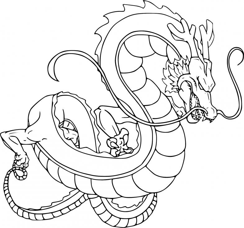 Coloriage Shenron Dragon Ball Z à imprimer